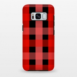Galaxy S8 plus  red black checks by