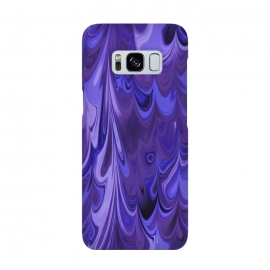 Purple Faux Marble by Andrea Haase