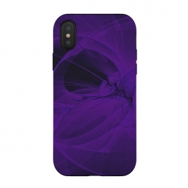 iPhone X  Purple Fractals by Andrea Haase