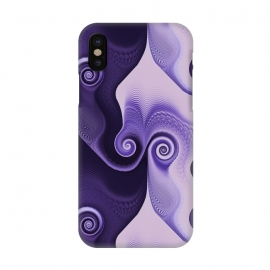 iPhone X  Fancy Purple Spirals by Andrea Haase