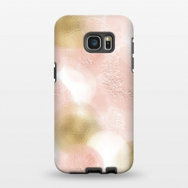 Galaxy S7 EDGE  Gold and Pink Blush Dots by Utart