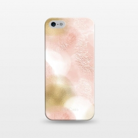 iPhone 5/5E/5s  Gold and Pink Blush Dots by Utart
