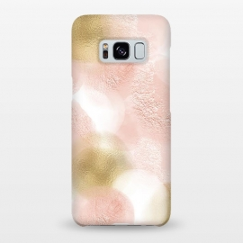 Galaxy S8+  Gold and Pink Blush Dots by Utart