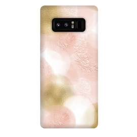 Galaxy Note 8  Gold and Pink Blush Dots by Utart