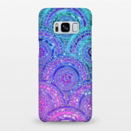Galaxy S8+  Pink and Blue Metal Circles Pattern by Utart