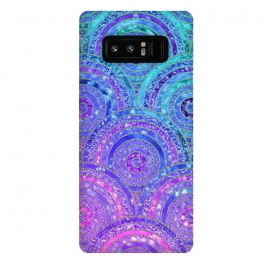 Galaxy Note 8  Pink and Blue Metal Circles Pattern by Utart
