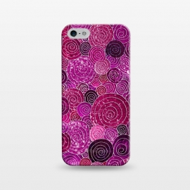 iPhone 5/5E/5s  Pink and Purple Metal Foil Circles  by Utart