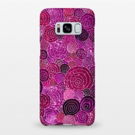 Galaxy S8+  Pink and Purple Metal Foil Circles  by Utart