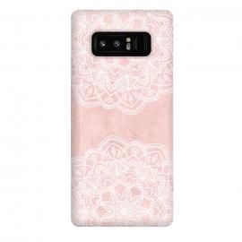 Galaxy Note 8  White and Pink Mandala by
