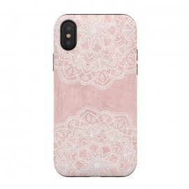 iPhone X  White and Pink Mandala by Utart