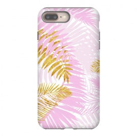 Pink and Gold Palm Leaves by Utart