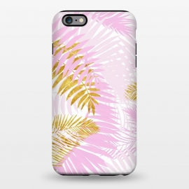 iPhone 6/6s plus  Pink and Gold Palm Leaves by Utart