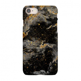 iPhone 8/7  Galaxy Black Gold by Gringoface Designs