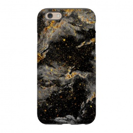 iPhone 6/6s  Galaxy Black Gold by Gringoface Designs