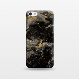 iPhone 5C  Galaxy Black Gold by Gringoface Designs