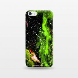 iPhone 5C  Green Galaxy by Gringoface Designs