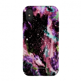 iPhone Xs / X  Cotton Candy Galaxy by Gringoface Designs (cotton candy,bright,teen,galaxy,space,science fiction,sci-fi,stars,milky way,universe,hubble,galaxies,nasa,pop-art,sweet,vivid,geek,nerd,interstellar,candy,astrology,astronomy,painting,gringoface)