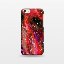 iPhone 5C  Red Galaxy by Gringoface Designs