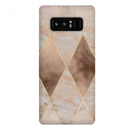 Galaxy Note 8  Marble Rose Gold Argyle Pattern by