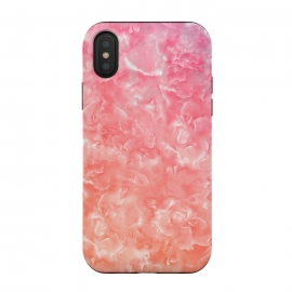 iPhone Xs / X  Pink Mother of Pearl Pattern by