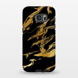 Galaxy S7 EDGE  Black and Gold Luxury Marble by Utart