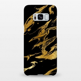 Galaxy S8+  Black and Gold Luxury Marble by Utart