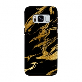 Galaxy S8  Black and Gold Luxury Marble by Utart