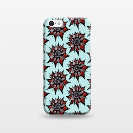 iPhone 5C  Spiked Abstract Ink Drawn Flower Pattern by Boriana Giormova
