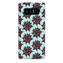 Galaxy Note 8  Spiked Abstract Ink Drawn Flower Pattern by Boriana Giormova
