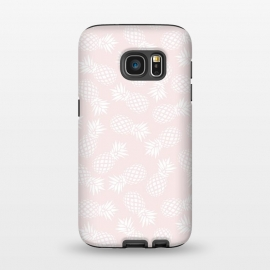 Galaxy S7  Pineapple pattern on pink 022 by Jelena Obradovic