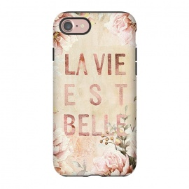 iPhone 8/7  La Vie est Belle - Retro Flower Illustration by Utart