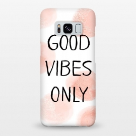 Galaxy S8+  Good Vibes Only - Rose Gold Polka Dots by Utart