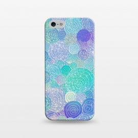 iPhone 5/5E/5s  Teal Mint and Purple Circles Pattern by Utart