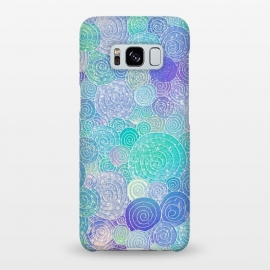 Galaxy S8+  Teal Mint and Purple Circles Pattern by Utart