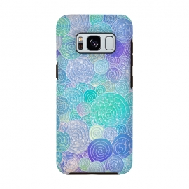 Teal Mint and Purple Circles Pattern by Utart