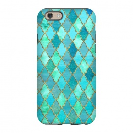 iPhone 6/6s  Teal Moroccan Shapes Pattern  by Utart