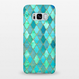Galaxy S8+  Teal Moroccan Shapes Pattern  by Utart