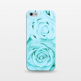 iPhone 5/5E/5s  Teal Roses Pattern by Utart