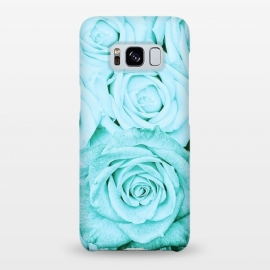 Galaxy S8+  Teal Roses Pattern by Utart