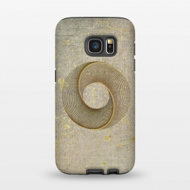 Galaxy S7  Golden Line Art Circles by Andrea Haase
