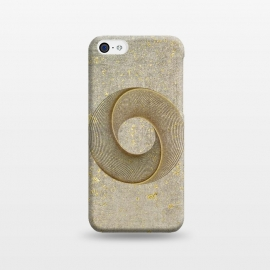 iPhone 5C  Golden Line Art Circles by Andrea Haase