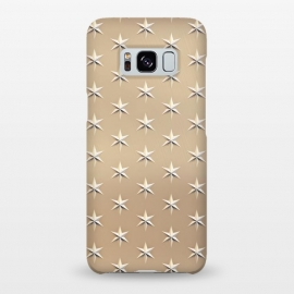 Galaxy S8+  Silver Stars On  Gold by Andrea Haase