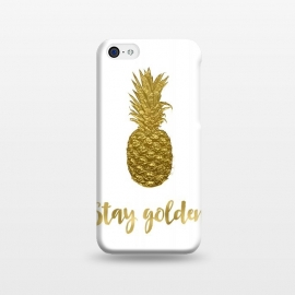 iPhone 5C  Stay Golden Precious Pineapple by Andrea Haase