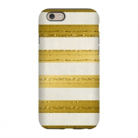 iPhone 6/6s  Golden Glitter Lines On Cream by Andrea Haase