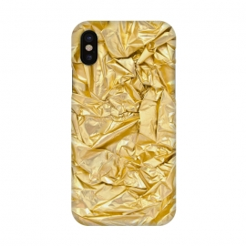 iPhone X  Golden Metal Foil by Andrea Haase