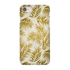iPhone 8/7  Golden Palm Leaves by Andrea Haase