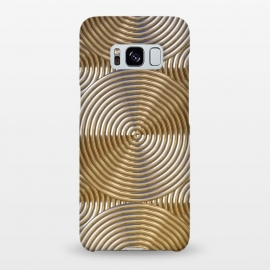 Galaxy S8+  Shiny Golden Metal Embossed Circles by Andrea Haase