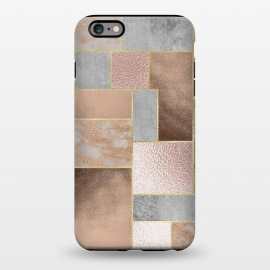 iPhone 6/6s plus  Rose Gold Copper and Concrete Abstract Geometrical Pattern by Utart