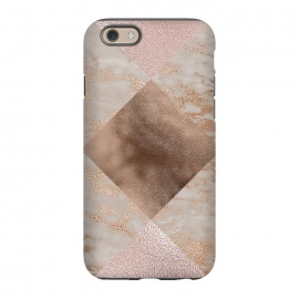 iPhone 6/6s  Rose Gold and Marble Quadrangle Pattern by Utart