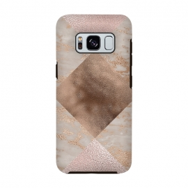 Rose Gold and Marble Quadrangle Pattern by Utart